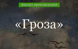 Основная идея произведения «Гроза.