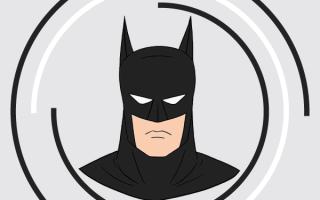 Как нарисовать бэтмена специальные для лица.