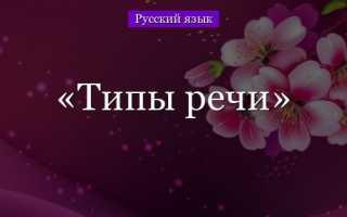 Что такое описание. Типы речи в русском языке