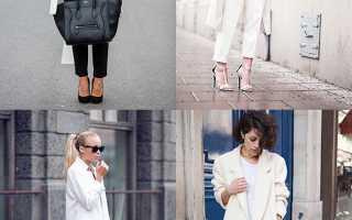 Шарф к белому пальто осенью