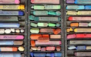Как рисовать сухой пастелью.