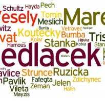 Происхождение чешских фамилий. Чешские имена