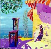 Картины слепого художника. Слепой художник