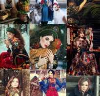 Модные узоры на платках. Русская мода