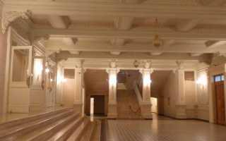 Места на первом этаже в театре. Партер театральный