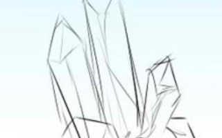 Рисуем кристалл поэтапно. Кристаллы акварелью