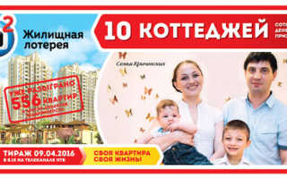 176 тираж жилищная лотерея 09 04.