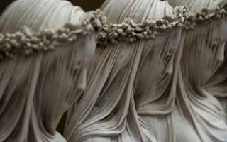 Мраморные статуи с вуалью. Мраморная вуаль