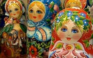Русская игрушка матрешка. Русская матрёшка