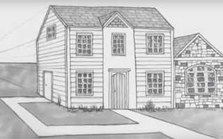 Как нарисовать круглый дом. Учимся рисовать дома