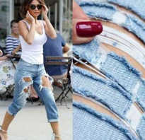Резаные джинсы. Как порвать красиво джинсы